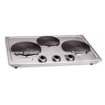 Triple Burner Built In Hot Plate With Skid Resistant Rubber Feet Temperature Dial And 230v Voltage