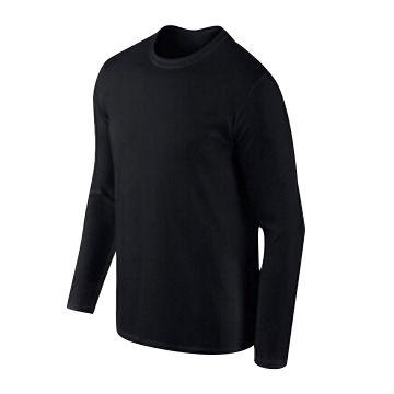 China Plain black long sleeve T-shirt from Nanchang Wholesaler ...