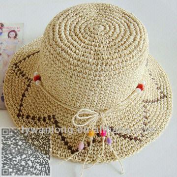 ... China Straw Hat  Bucket Hats popular Fashion Design Flat Brim Straw Hat  dress 7aec8606e
