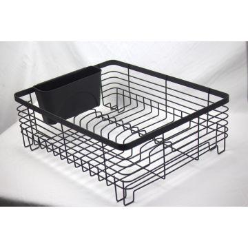 Kitchen Dish Drainer Drying Rack with Full-Mesh Silverware ...
