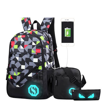 China Sports backpack set of 3pcs, fashion school bags for boys and ... c7e72b210f