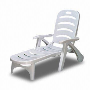 China Foldable Chaise Lounge With 2 Wheels And 4 Adjustable Positions, Made  Of PP