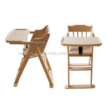 china 2013 new and popular wooden baby high chair with best price