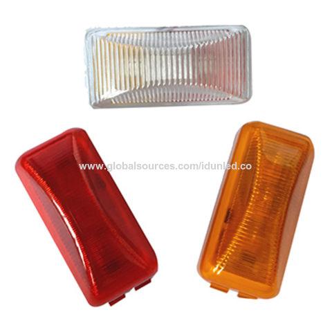 """10X White 12V LED Side Marker Light 2.5/"""" Clearance Truck Trailer Turn Light"""