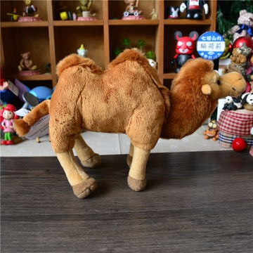 stuffed plush animal brown camel toy, made of soft plush and PP padding, for promotion