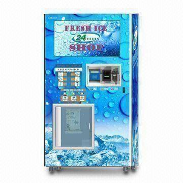 Coin-operated Ice Vending Machine with Bill Acceptor, Used for ...