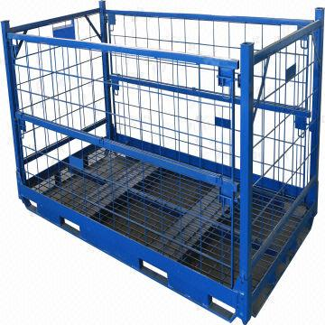 Industrial Storage Wire Containers Folding Metal Pallet