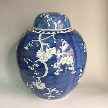 Antique Blue White Porcelain Jar China