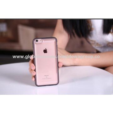 China Transparent sticky case for iPhone 6S, TPU bumper side