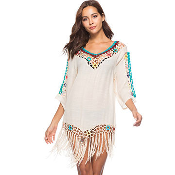 287ff62b07fe0 China Beach   swimsuit caftans swimsuit cover up crochet neckline ...