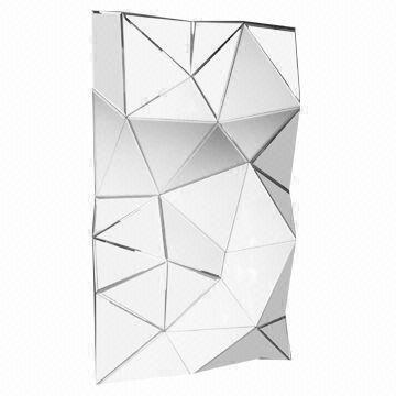 China Geometric Decorative Frameless Wall Mirror