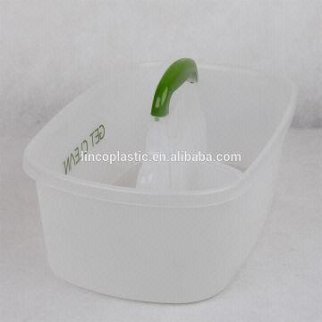 Plastic bathroom shower caddy with handle clear color | Global Sources