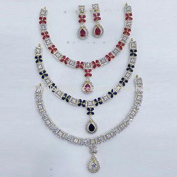 f0856ea97 India American Diamond Fancy Necklace Set