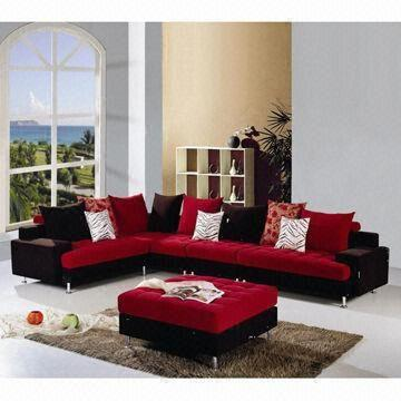L-shaped Sofa with Fabric Cover and Wooden Frame | Global Sources