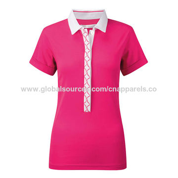 China Ladies Golf Shirts Long Body Style Polo On Global Sources