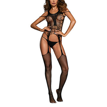 be2b6b1b672 China Black One Piece Strips Cheap Body Stockings on Global Sources