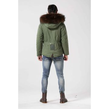 100% cotton wholesale men's short fur jackets, customize size and colors are accepted