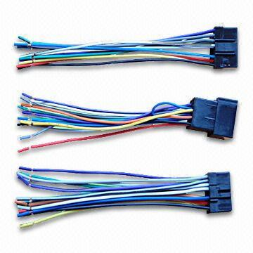 wiring harness with iso radio plug, sony 16 pin, and pioneer 12 pin 7 pin wire harness diagram wiring harness china wiring harness
