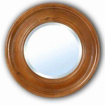 round wooden framed wall bathroom mirror available in various colors fsc marks on global sources