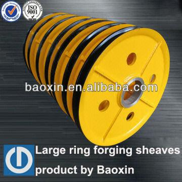Hot-rolling Steel Sheaves,wire Rope Pulleys for Port Cranes,korean ...