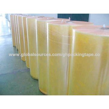 China 2016 Wholesale Waterproof Clear Transparent BOPP Adhesive Jumbo Roll
