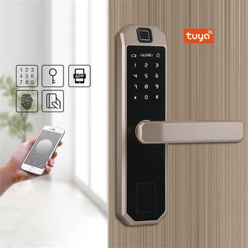 WiFi Fingerprint Smart Doorlock Wireless Remote Control TuYa APP Locks Black