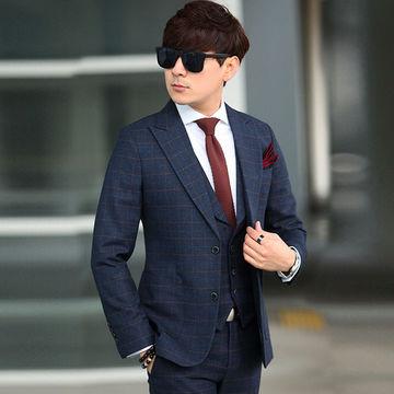 China Custom Made Dark Navy Blue Men Suit 2017 Fashon from ...