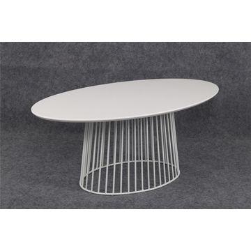 Center Table Metal Leg Wood Top Modern Coffee Tables