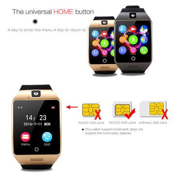 China Q18 wearable smart watch from Shenzhen Manufacturer