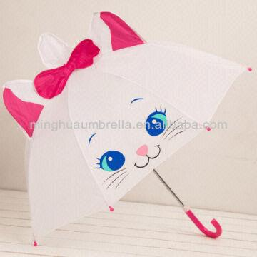 cute looking cat design umbrella high quality animal shape umbrella
