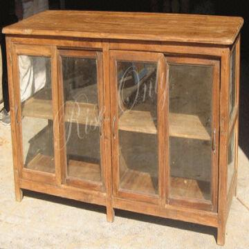 Antique Wooden Teak Glass Display Cabinet India Antique Wooden Teak Glass  Display Cabinet