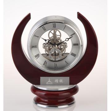 China Conda Antique Brass Skeleton Desk Clock