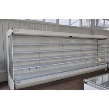 China Remote supermarket multi decks vegetable and fruits open display refrigerator