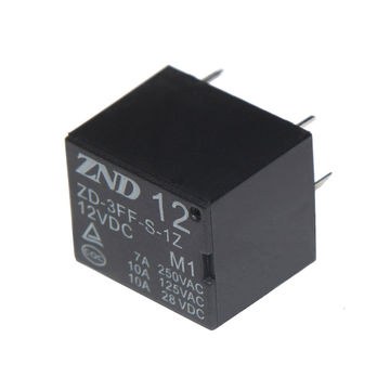 China 5PIN Silver Plated Contact Black Cover 12V 7A Power Relay
