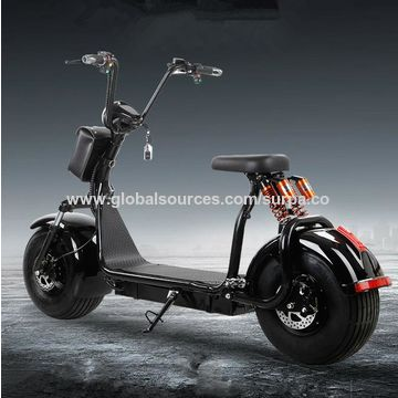 China 18 9 5inch 1500w Front Rear Suspension Fat Tire Citycoco Two Seats 2 Seat