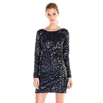 99b33a38 China Evening dresses long sleeve ombre sequin dress with V neck back  details dresses ...