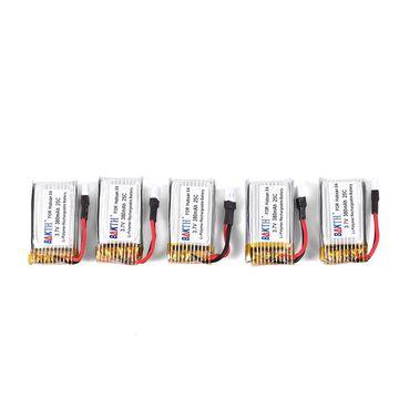 China BAKTH 5 Packs 3.7V 380mAh RC Battery for Hubsan X4