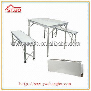 ... China Mdf Top and Seat Aluminum Leg Portable Patio Picnic Outdoor Folding Table and Chair Set  sc 1 st  Global Sources & Mdf Top and Seat Aluminum Leg Portable Patio Picnic Outdoor Folding ...
