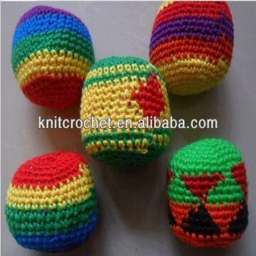 Soccer Ball Bulk Hacky Sacks Custom Crochet Hacky Sack Woven