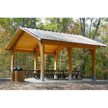 Madera al aire libre impermeable del gazebo del jard n for Choza de jardin de madera techo plano