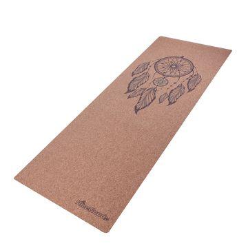 China Custom Logo Yoga Mat, Natural Cork Rubber Yoga Mat