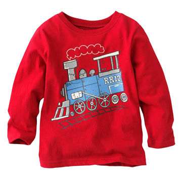 China Fashionable New Design 100 Cotton Kids Boys Cartoon T Shirt