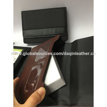 China PU car manual holder with blind embossing in China, OEM are welcome