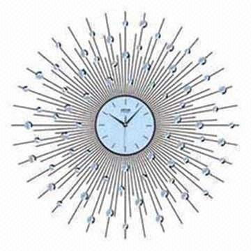 Star-shaped Wall Clock, Including Mass Balls, Suitable for