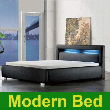 China 2013 King Queen Twin Size Cool Modern Leather Bed Frame Bedroom  Furniture Platform Software Beds