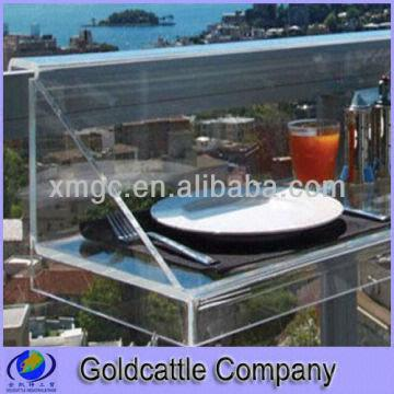 China Acrylic Hanging Table For Balcony Railings