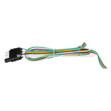 Trailer Light Wiring Harness Extension 4 Pin Plug Connector ... on