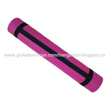 China Yoga Mat, 3mm, Fuchsia, Promotional Gift, Non-slip Surface