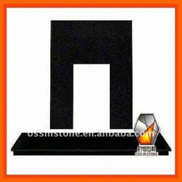 Fireplace Back Panel: 1  Absolute Black granite 2  Standard