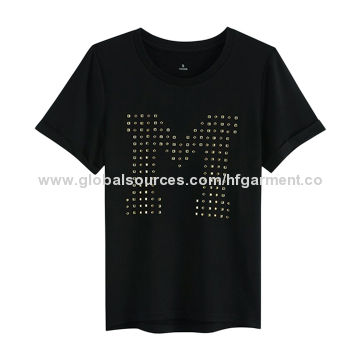 bce47c2534bb4 China High Quality Word Printing Promotion Girls  T-shirt Made of ...